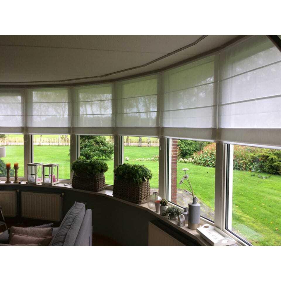 Diverse mogelijkheden bij deze raamdecoratie